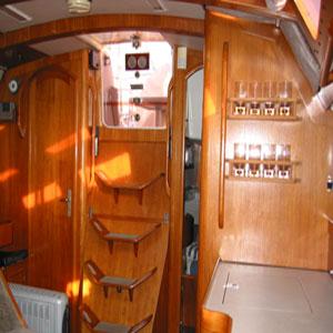 escalier du voilier