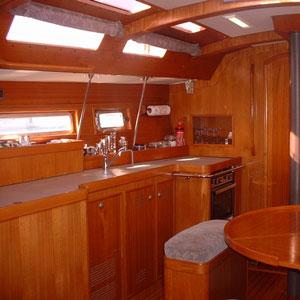 interieur du voilier